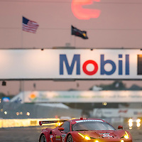 Sebring, FL - Mar 19, 2015:  The Risi Competizione Ferrari races through the turns at 12 Hours of Sebring at Sebring Raceway in Sebring, FL.