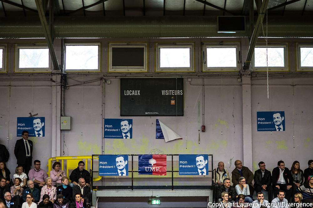 15112014. Aulnay-sous-Bois (93). Meeting de Nicolas Sarkozy dans le cadre de l'élection pour la présidence de l'UMP.