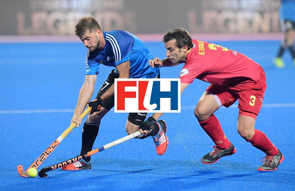 Odisha Men's Hockey World League Final Bhubaneswar 2017<br /> Match id:11<br /> Argentina v Spain<br /> Foto: Alan Andino (Arg) in dual with Sergi Enrique (Esp) <br /> COPYRIGHT WORLDSPORTPICS FRANK UIJLENBROEK