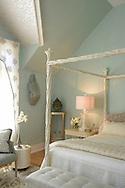 Bridgehampton, NY,  July 22, 2015: ---  The stunning Hagins-Mortimer designed master bedroom at the 2015 Hamptons Designer Showhouse   © Audrey C. Tiernan