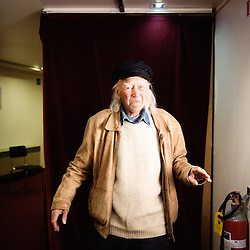 "Rene Vautier's portrait during Brussels' Festival des Cinemas Africains (African Film Festival). He directed ""Afrique 50"" and the award-winning ""Avoir 20 ans dans les aures"" among others. Commune d'Ixelles, Brussels. April 4, 2009. Photo : Antoine Doyen"