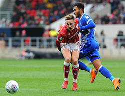 Josh Brownhill of Bristol City holds off Callum Connolly of Ipswich Town - Mandatory by-line: Nizaam Jones/JMP - 17/03/2018 - FOOTBALL - Ashton Gate Stadium- Bristol, England - Bristol City v Ipswich Town - Sky Bet Championship