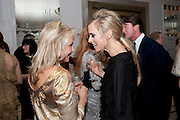 HELEN FEILDING; LAURA BAILEY, Harper's Bazaar Women Of the Year Awards 2011. Claridges. Brook St. London. 8 November 2011. <br /> <br />  , -DO NOT ARCHIVE-© Copyright Photograph by Dafydd Jones. 248 Clapham Rd. London SW9 0PZ. Tel 0207 820 0771. www.dafjones.com.