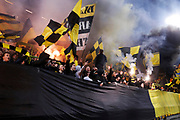 SOLNA, SWEDEN - MARCH 18: Fans of AIK during the Swedish Cup Semifinal between AIK and Djurgardens IF at Friends arena on March 18, 2018 in Solna, Sweden. Photo by Nils Petter Nilsson/Ombrello ***BETALBILD***