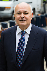 """College Green, Westminster, London, June 22nd 2016. Leading EU Leave campaigner and former Work and Pensions Secretary Iain Duncan-Smith says he is looking forward to """"Independence Day"""" as he is photographed in College Green following a TV interview."""