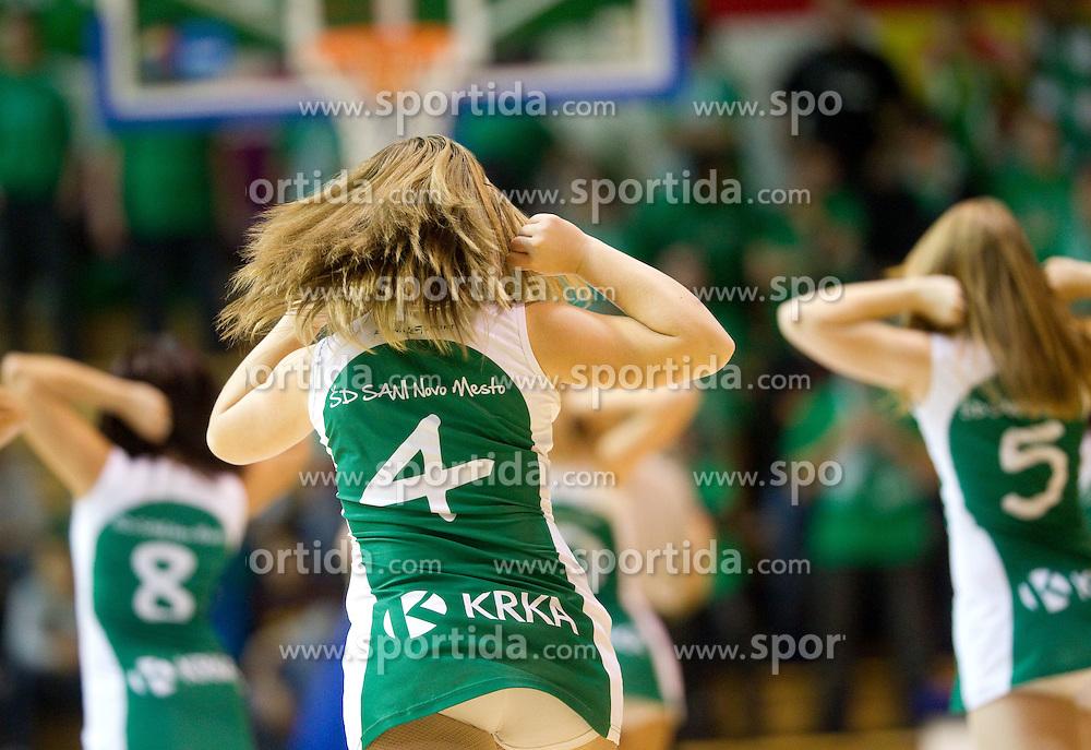 Cheerleaders Daisy Girls during basketball match between KK Krka (SLO) and KK Zagreb (CRO) in 2nd Round of Group E of EuroChallenge, on November 23, 2010 in Arena Leona Stuklja, Novo mesto, Slovenia. (Photo By Vid Ponikvar / Sportida.com)