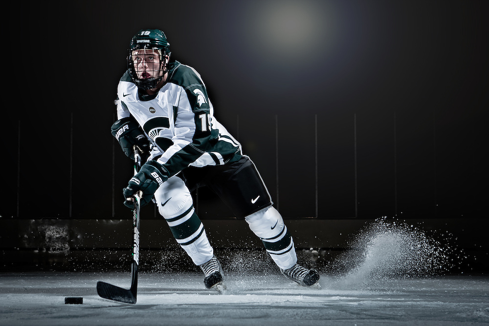 Promotional Athlete Portrait for Michigan State University Athletic Department.<br />