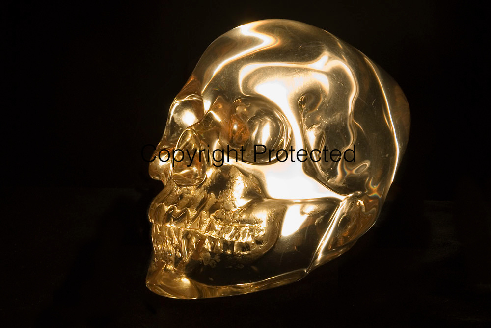 A crystal skull from the National Media Museum collection.
