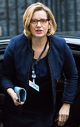 London, December 05 2017. Home Secretary Amber Rudd arrives at 10 Downing Street to attend the weekly cabinet meeting. © Paul Davey