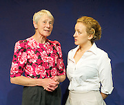 Wanted<br /> by Michelene Wandor<br /> Directed by Amy Mellor<br /> at The New End Theatre, London, Great Britain <br /> press photocall<br /> 16th August 2011 <br /> <br /> Susan Scott (as Sarah <br /> Sarah Wyatt (as Angel)<br /> <br /> <br /> Photograph by Elliott Franks