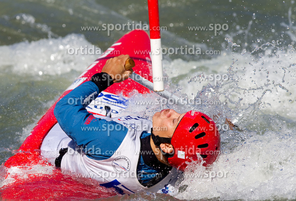Jure Lenarcic of Slovenia competes during semifinal race at ICF Canoe Slalom World Cup Sloka 2011, on June 25, 2011, in Tacen, Ljubljana, Slovenia. (Photo by Vid Ponikvar / Sportida)