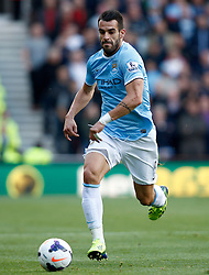 Manchester City's Alvaro Negredo - Photo mandatory by-line: Matt Bunn/JMP - Tel: Mobile: 07966 386802 14/09/2013 - SPORT - FOOTBALL -  Britannia Stadium - Stoke-On-Trent - Stoke City V Manchester City - Barclays Premier League