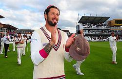 Peter Trego of Somerset applauds the crowd.  - Mandatory by-line: Alex Davidson/JMP - 22/09/2016 - CRICKET - Cooper Associates County Ground - Taunton, United Kingdom - Somerset v Nottinghamshire - Specsavers County Championship Division One
