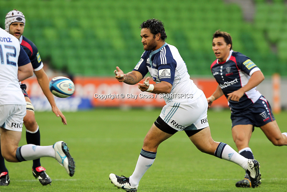 Piri Weepu during the Super Rugby pre season, Rebels v Blues, AAMI Park, Melbourne. Saturday 11 February 2012. Photo: Clay Cross/photosport.co.nz