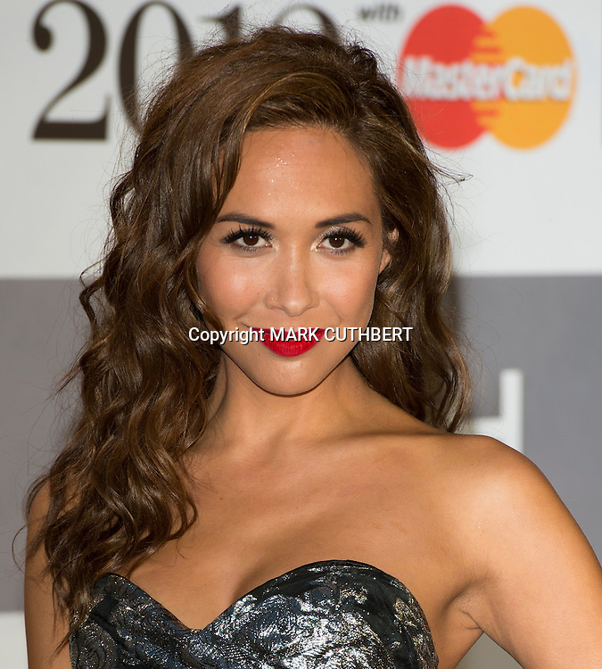 Myleene Klass arriving at the 2012 Classic Brit Awards at the Royal Albert Hall in London.