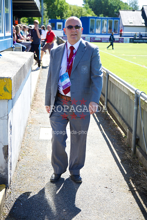 HAVERFORDWEST, WALES - Sunday, August 25, 2013: Wales' Ceri Stennett before the Group A match between Wales and France of the UEFA Women's Under-19 Championship Wales 2013 tournament at the Bridge Meadow Stadium. (Pic by David Rawcliffe/Propaganda)