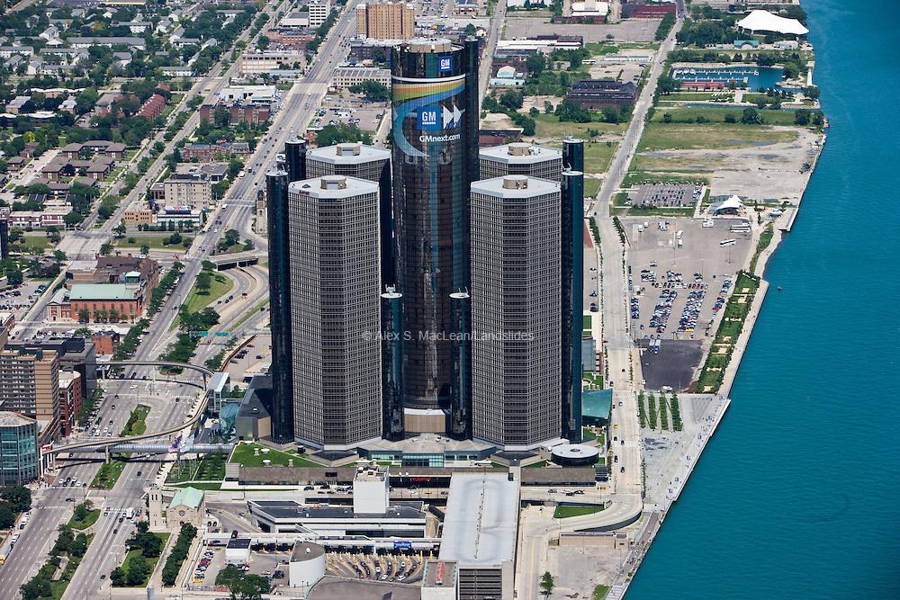 GM Renaissance Center on the Detroit River