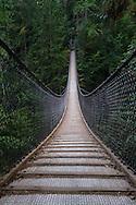 The Lynn Canyon Suspension Bridge at Lynn Canyon Park, North Vancouver, British Columbia, Canada