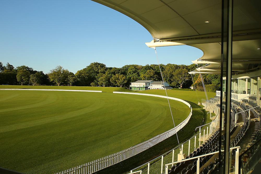 Hagley Cricket Pavilion and cricket grounds in Hagley Park, Christchurch, New Zealand,  Thursday, 05 November, 2015.  Credit: SNPA / Pam Carmichael