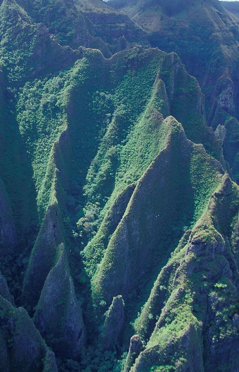 Aerial view of Nuku Hiva, Marquesa Islands, French Polynesia