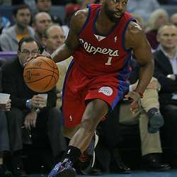 Jan 13, 2010; New Orleans, LA, USA; Los Angeles Clippers guard Baron Davis (1) drives with the ball against the New Orleans Hornets during the first quarter at the New Orleans Arena. Mandatory Credit: Derick E. Hingle-US PRESSWIRE