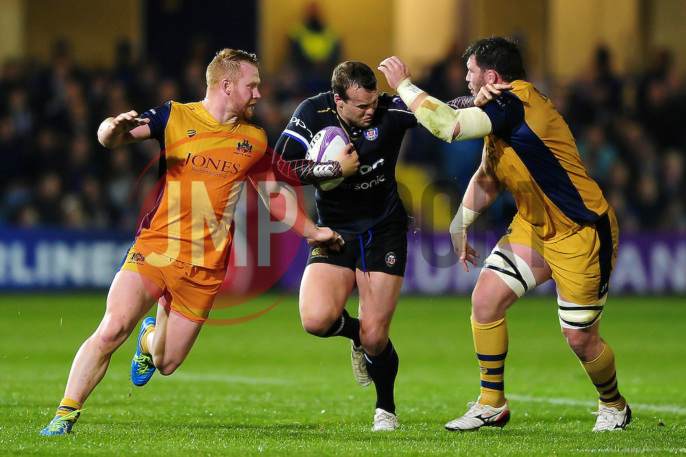 Michael van Vuuren of Bath Rugby takes on the Bristol Rugby defence - Mandatory byline: Patrick Khachfe/JMP - 07966 386802 - 20/10/2016 - RUGBY UNION - The Recreation Ground - Bath, England - Bath Rugby v Bristol Rugby - European Rugby Challenge Cup.
