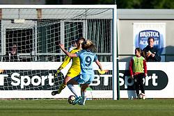 Caitlin Leach of Bristol City Women stops Toni Duggan of Manchester City Women - Mandatory by-line: Paul Knight/JMP - 09/05/2017 - FOOTBALL - Stoke Gifford Stadium - Bristol, England - Bristol City Women v Manchester City Women - FA Women's Super League Spring Series