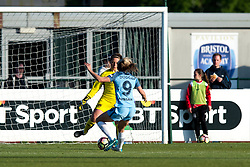Caitlin Leach of Bristol City Women stops Toni Duggan of Manchester City Women - Mandatory by-line: Paul Knight/JMP - 09/05/2017 - FOOTBALL - Stoke Gifford Stadium - Bristol, England - Bristol City Women v Manchester City Women - FA Women's Super League Spring Series