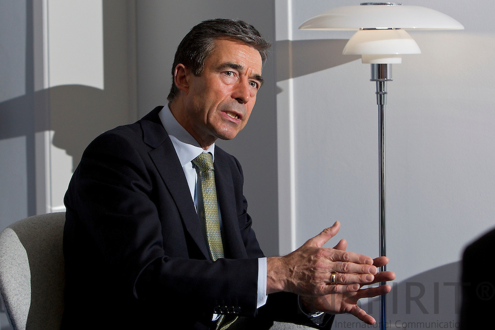 BRUSSELS - BELGIUM - 18 NOVEMBER 2010 -- Anders Fogh Rasmussen the Secretary General for NATO during an interview at his office. PHOTO: ERIK LUNTANG / INSPIRIT Photo