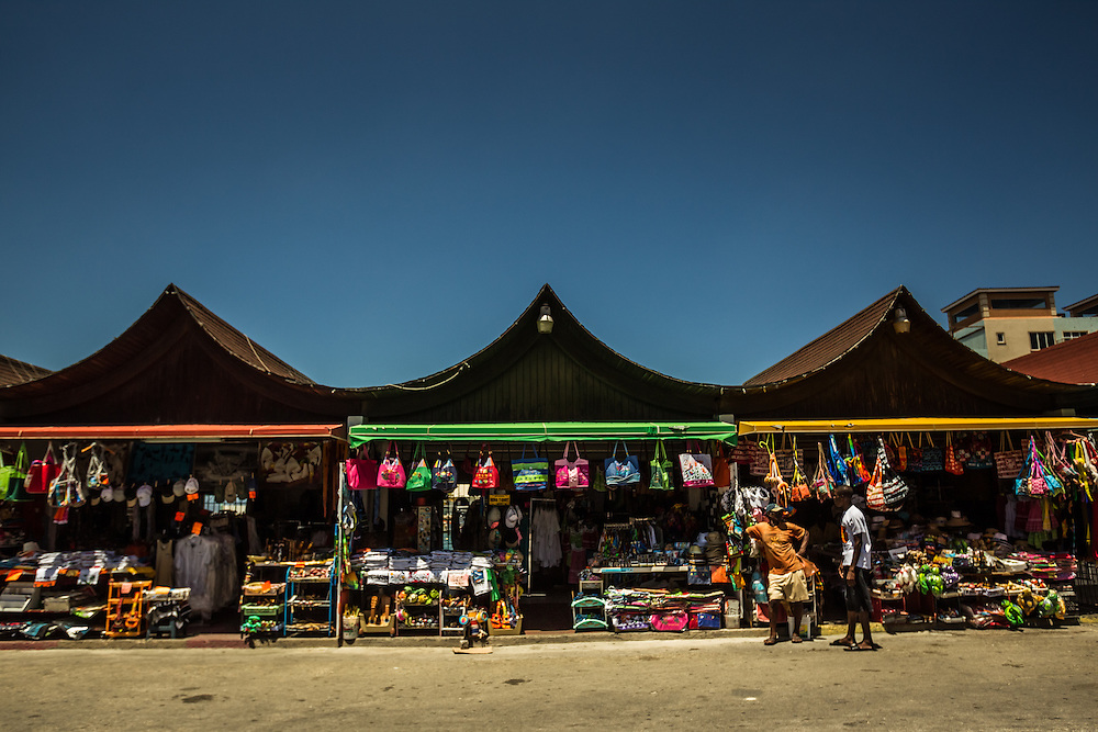 ARUBA - When Raquel's father lived in Aruba, his father sold fruit from these stalls near LG Smith Boulevard (where today one can buy Aruba T-shirts, key chains, and other trinkets). PHOTO: Meridith Kohut for The New York Times