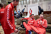 Warsaw, Poland - 2017 December 11: (L-R) Hubert Hurkacz and Michal Przysiezny and Marcin Matkowski all from Poland rest while Photo Session of Davis Cup Team of Polish Tennis Association at Regent Hotel on December 11, 2017 in Warsaw, Poland.<br /> <br /> Mandatory credit:<br /> Photo by &copy; Adam Nurkiewicz / Mediasport<br /> <br /> Adam Nurkiewicz declares that he has no rights to the image of people at the photographs of his authorship.<br /> <br /> Picture also available in RAW (NEF) or TIFF format on special request.<br /> <br /> Any editorial, commercial or promotional use requires written permission from the author of image.