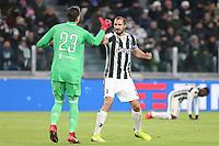 09.12.2017 - Torino - Serie A 2017/18 - 16a giornata  -  Juventus-Inter nella  foto: Wojciech Szczesny si complimenta con Chiellini
