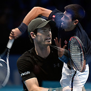 20.11.2016 ATP World Tour Finals at O2 Arena London UK  Final Andy Murray GB vs Novak Djokovic SRB Photo:Leo MasonSplit Second