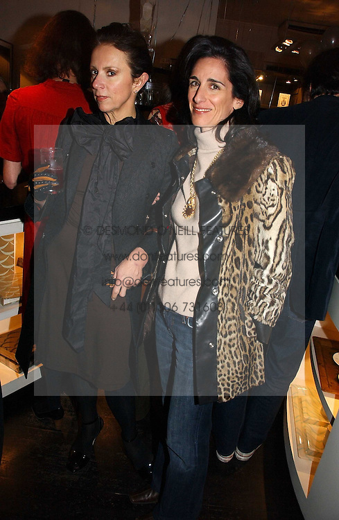 Left to right, VICTORIA FERNANDEZ and PRINCESS KARL VON AUERSPERG-BREUNNER at a party to celebrate the publication of Bebe Blue and the Evil Gangsta Rappers by Ashley Hicks, held at 28 Cadogan Place, London SW1 on 15th November 2006.<br />