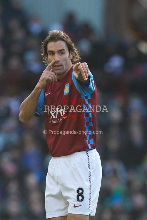 BIRMINGHAM, ENGLAND - Saturday, November 27, 2010: Aston Villa's Robert Pires in action against Arsenal during the Premiership match at Villa Park. (Pic by: David Rawcliffe/Propaganda)