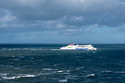 A Stena line ferry (connecting Europe) arriving back into Holyhead port after crossing the Irish Sea from Dublin in Ireland to Holyhead in the United Kingdom, Holyhead, Anglesey, North Wales, United Kingdom.20th February 2020. (photo by Andrew Aitchison / In pictures via Getty Images)