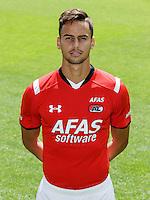 Pantelis Hatzidiakos during the team photocall of AZ Alkmaar on July 17, 2015 at Afas Stadium in Alkmaar, The Netherlands