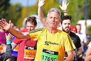 Green Runner Stuart enjoying The Great South Run in Southsea, Portsmouth, United Kingdom on 23 October 2016. Photo by Jon Bromley.