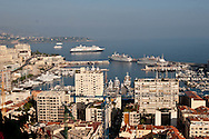 general view of monaco , the port, the rock, the palace  Monaco  Monaco   Vue generale de Monaco, le rocher, le port, le palais  Monaco  Monaco depuis vatrican L0055512