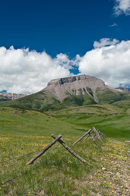 ear mountain along the rocky mountain front, montana, russel country, montana, usa, russell