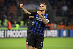 October 21, 2018 - Milan, Milan, Italy - Mauro Icardi #9 of FC Internazionale Milano celebrate a victory at the end of the serie A match between FC Internazionale and AC Milan at Stadio Giuseppe Meazza on October 21, 2018 in Milan, Italy. (Credit Image: © Giuseppe Cottini/NurPhoto via ZUMA Press)