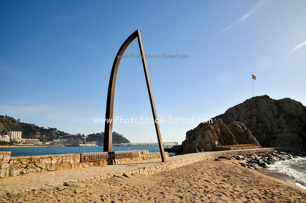 beachfront at Lloret de Mar, Costa Brava, Spain