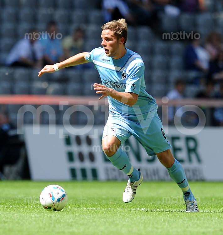 2. Fussball Bundesliga:  Saison   2011/2012,    2.  Spieltag  TSV 1860 Muenchen - FC Erzgebirge Aue  14.08.2011 Dominik Stahl  (1860 Muenchen)