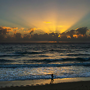 Sunrise along Lantana Beach near Palm Beach, Florida.<br /> Photography by Jose More