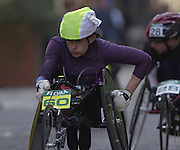 London Marathon, London, GREAT BRITAIN, location, Isle of Dogs. Wheel chair Narrow Street, E1, Race No. 93060 TANNI. GREY-THOMPSON  (GBR). © Peter Spurrier/Intersport Image/+447973819551