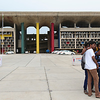 The High Court building in Chandigarh, designed by Le Corbusier