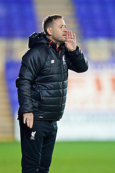 BIRKENHEAD, ENGLAND - Wednesday, November 2, 2016: Liverpool's manager Michael Beale during the Premier League International Cup match against FC Porto at Prenton Park. (Pic by David Rawcliffe/Propaganda)