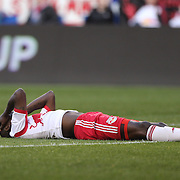 Bradley Wright-Phillips, New York Red Bulls, reacts to a missed chance during the New York Red Bulls Vs New England Revolution, MLS Eastern Conference Final, first leg at Red Bull Arena, Harrison, New Jersey. USA. 23rd November 2014. Photo Tim Clayton