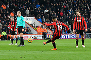 Goal - Junior Stanislas (19) of AFC Bournemouth scores a goal to make the score 2-1 during the Premier League match between Bournemouth and West Bromwich Albion at the Vitality Stadium, Bournemouth, England on 17 March 2018. Picture by Graham Hunt.