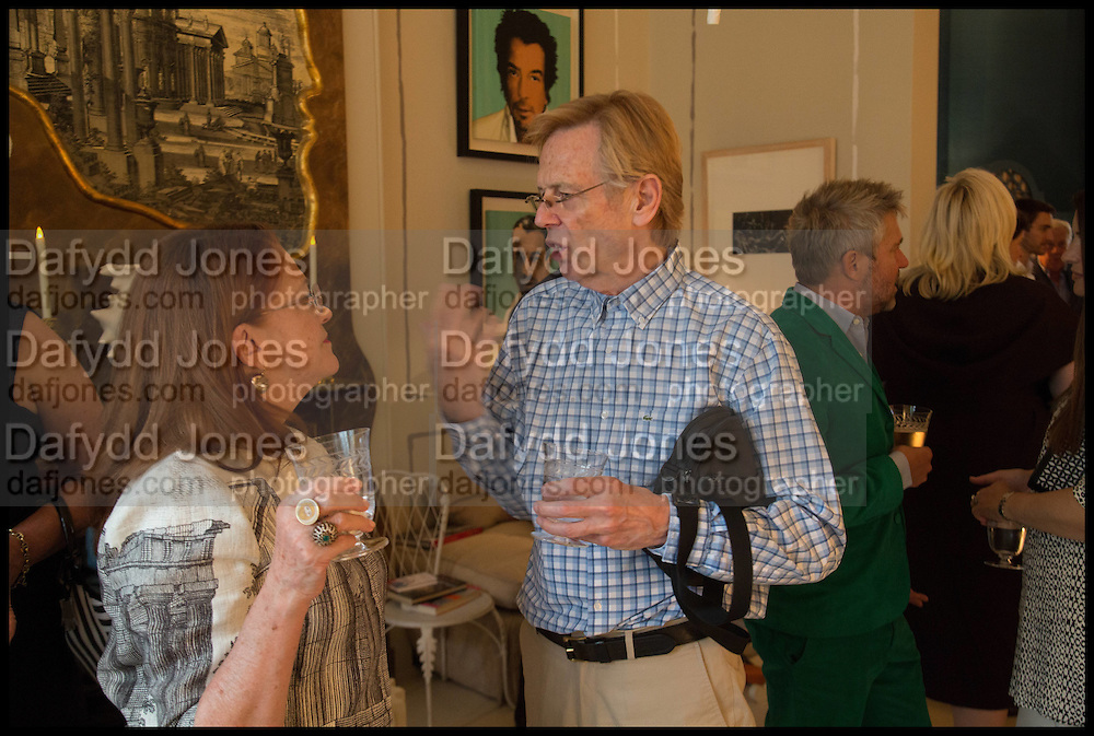DUNCAN FALLOWELL, Nicky Haslam hosts a party to launch a book by  Maureen Footer 'George Stacey and the Creation of American Chic' . With a foreword by Mario Buatta. Kensington. London. 11 June 2014